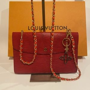 Louis Vuitton Montaigne Red Crossbody